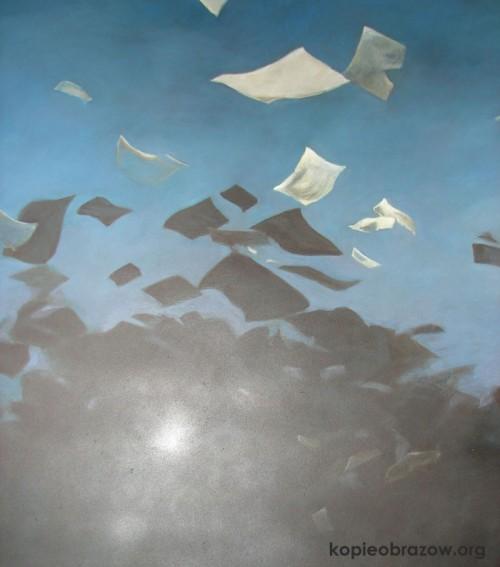latające kartki papieru