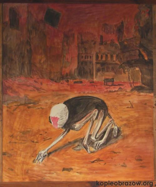 kopia obrazu beksińskiego podmalowanie