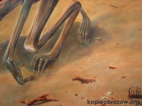 dłonie beksiński obraz