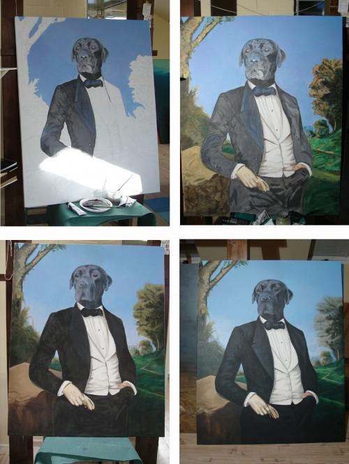 malowany portret psa