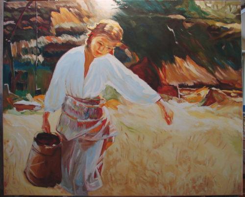 Apoloniusz Kędzierski - Dziewczyna z dzbanem kopia obrazu