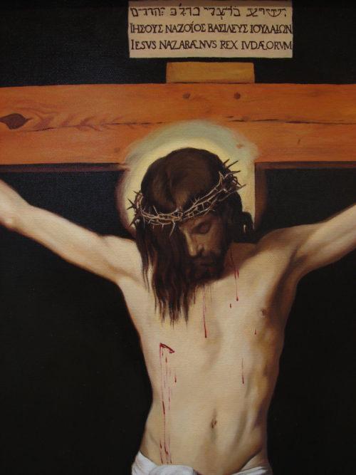 Velazquez Chrystus ukrzyżowany malowana kopia obrazu