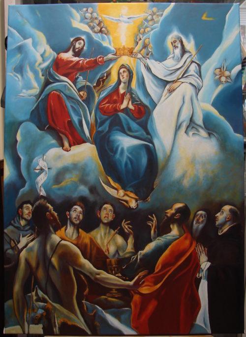 El Greco - Koronacja Matki Boskiej kopia