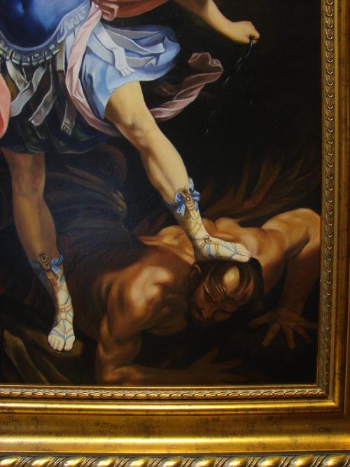Guido Reni - Św. Michał Archanioł reprodukcja malowana kopia na zamówienie