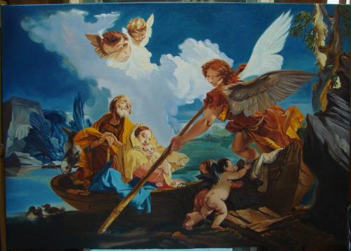 Giovanni Battista Tiepolo – Ucieczka Św. Rodziny do Egiptu kopia